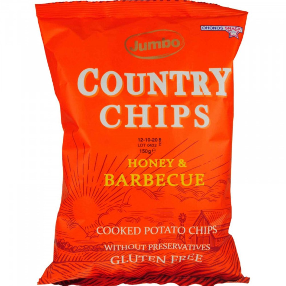 JUMBO COUNTRY CHIPS HONEY BARBECUE 150gr
