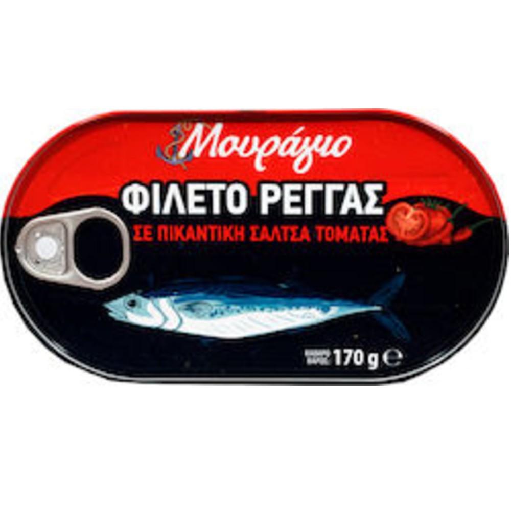 MOYRAGIO FILETO REGGAS SE SALTSA NTOMATAS 170gr