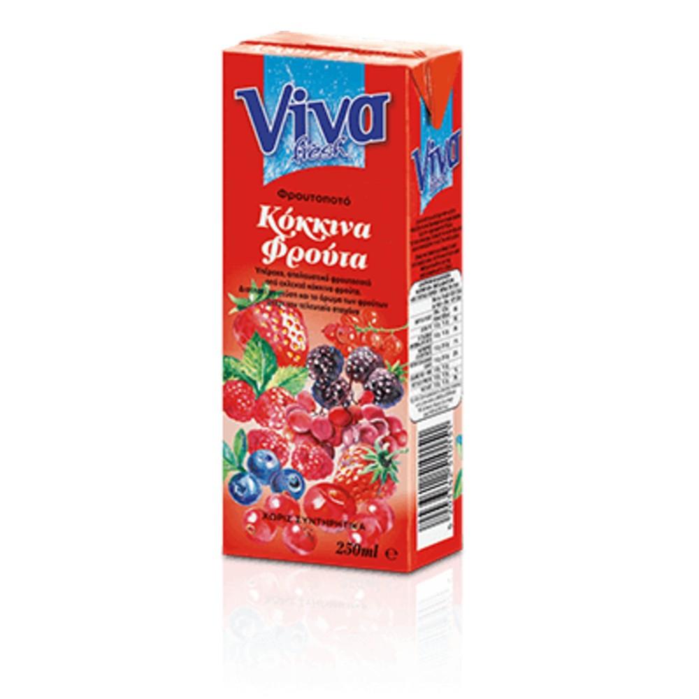 VIVA XYMOS KOKKINA FROYTA FROYTOPOTO 250ml