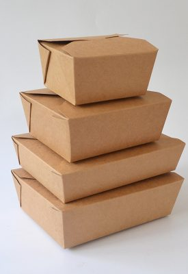 Wholesale Disposable Kraft Paper Packaging Take out Food Box